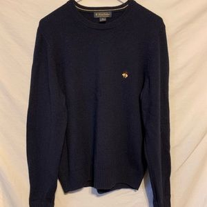 Brooks brothers men small navy blue sweater 909a
